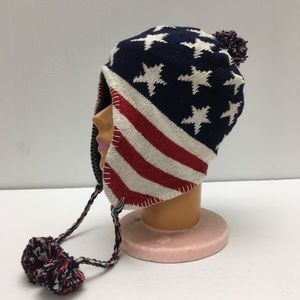 American Flag Stars And Stripes Knit Hat